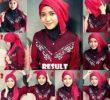 30 Tutorial Hijab Segi Empat Simple untuk Wajah Bulat yang Kekinian