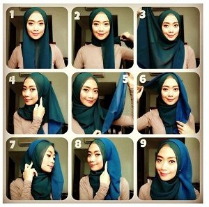 Hijab Pashmina Gradasi Simple