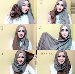 tutorial hijab ala zaskia sungkar 5a