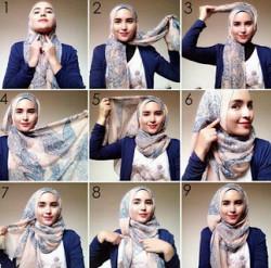 tutorial hijab ala zaskia sungkar 2