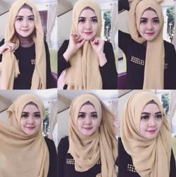 tutorial hijab ala zaskia sungkar 3