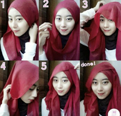 tutorial hijab ala zaskia sungkar 4