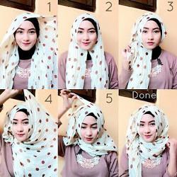 tutorial hijab ala zaskia sungkar 10