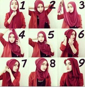 Tutorial Hijab Wisuda Wardah 4