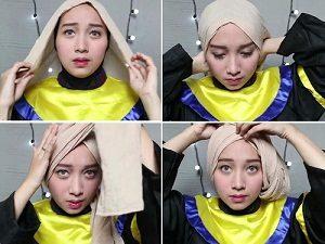 Tutorial Hijab Wisuda Wardah 2