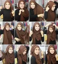 tutorial hijab kekinian instagram 7