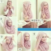 tutorial hijab kekinian instagram 9