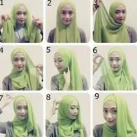 tutorial hijab kekinian instagram 10