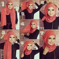 tutorial hijab kekinian instagram 12