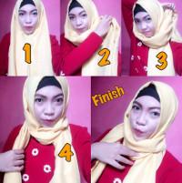 tutorial hijab kekinian instagram 16