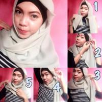 tutorial hijab kekinian instagram 19