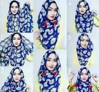 tutorial hijab kekinian instagram 1