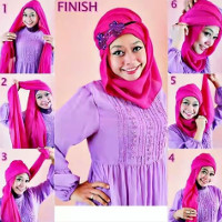 tutorial hijab kekinian instagram 2