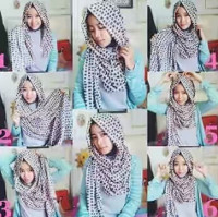 tutorial hijab kekinian instagram 5