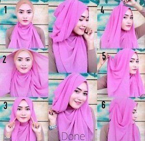 Tutorial Hijab Wisuda Wardah 3