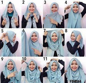 Tutorial Hijab Wisuda Wardah 1