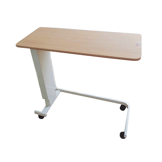 0256 Height Adjustable Overbed Table with 'U' Base