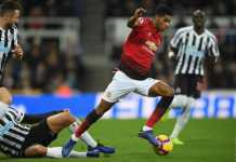 newcastle united vs manchester united marcus rashford
