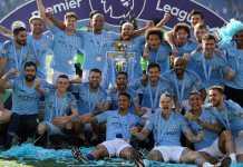 Foto Manchester City saat juara Premier League