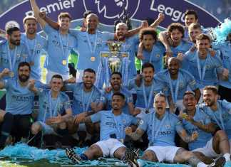 Foto Manchester City saat juara Premier League