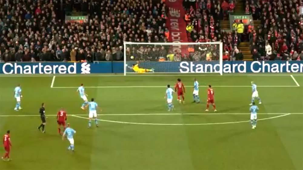 Gol pertama Liverpool di Liverpool Vs Manchester City