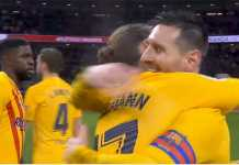 foto Lionel Messi di pertandingan Barcelona Vs Atletico Madrid