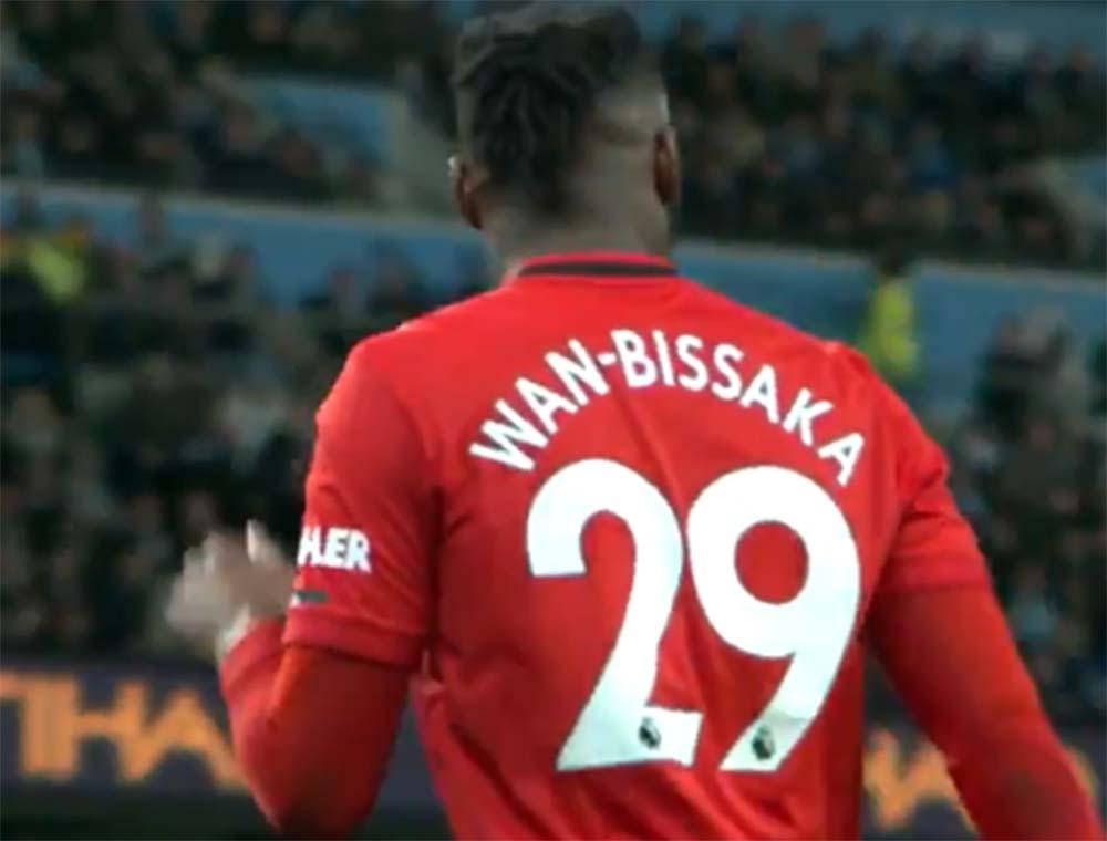 Foto Aaron Wan-Bissaka di Manchester City Vs Manchester United