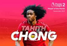 Tahith Chong - Player of The Month December 2019
