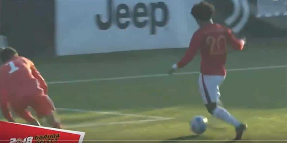 Cuplikan gol Bagus Kahfi di Pertandingan Juventus Vs Garuda Select
