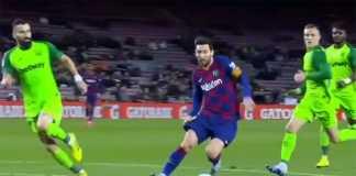 Lionel Messi Mencetak Gol di Pertandingan Barcelona Vs Leganes