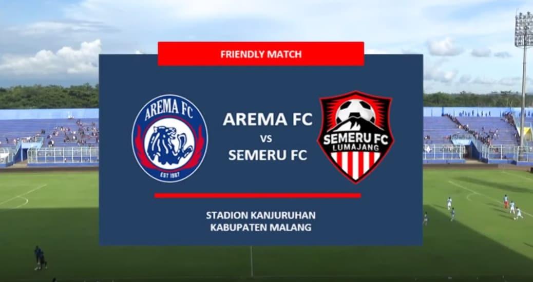 Ujicoba Arema FC vs Semeru FC