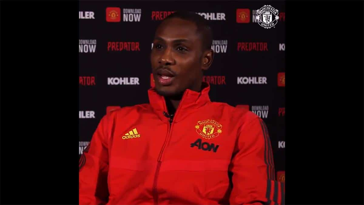 Foto Odion Ighalo, Pemain Manchester United Asal Nigeria