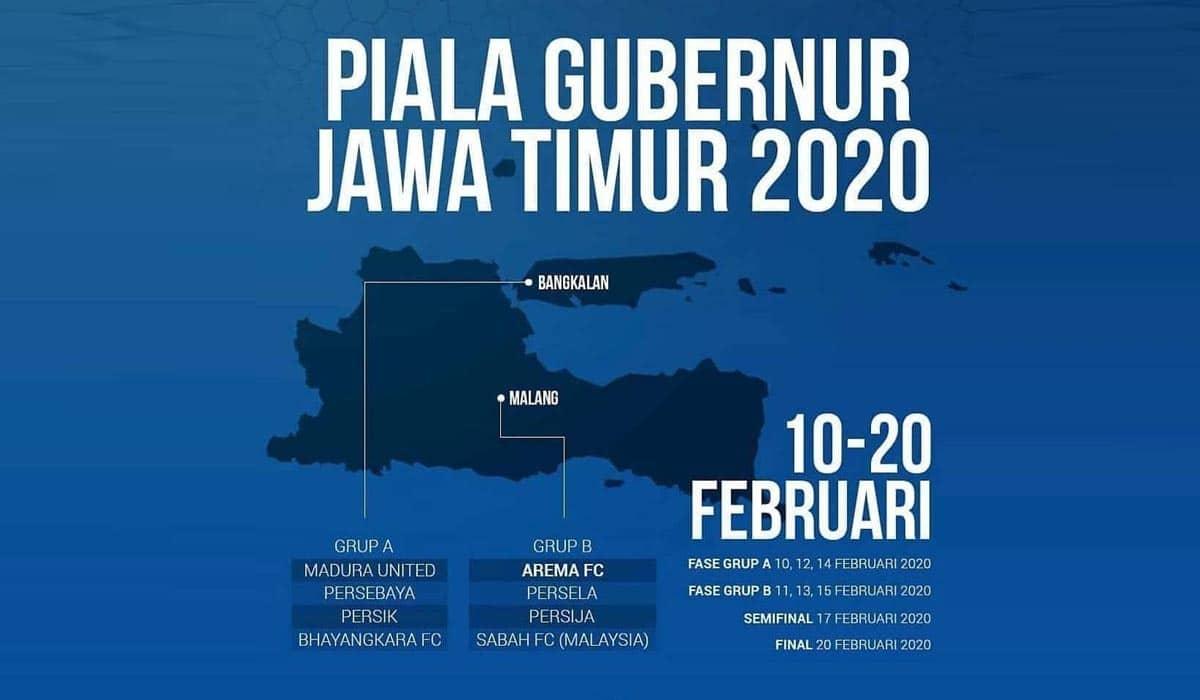Jadwal Piala Gubernur Jatim 2020