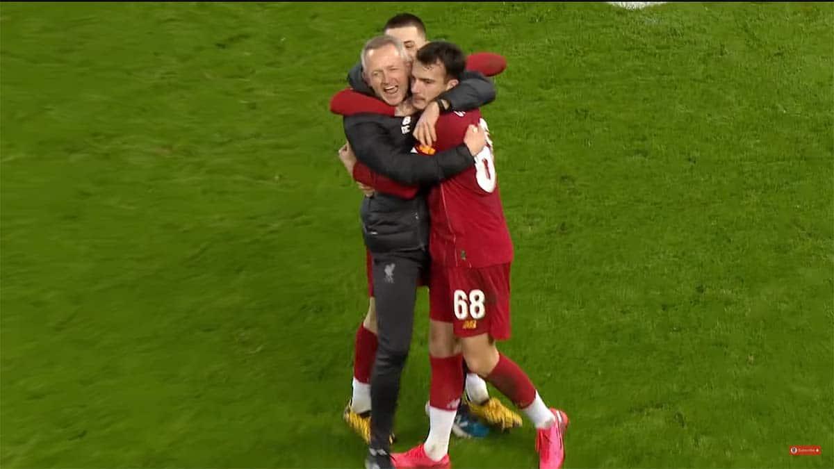 Pemain Liverpool rayakan kemenangan atas Shrewsbury Town