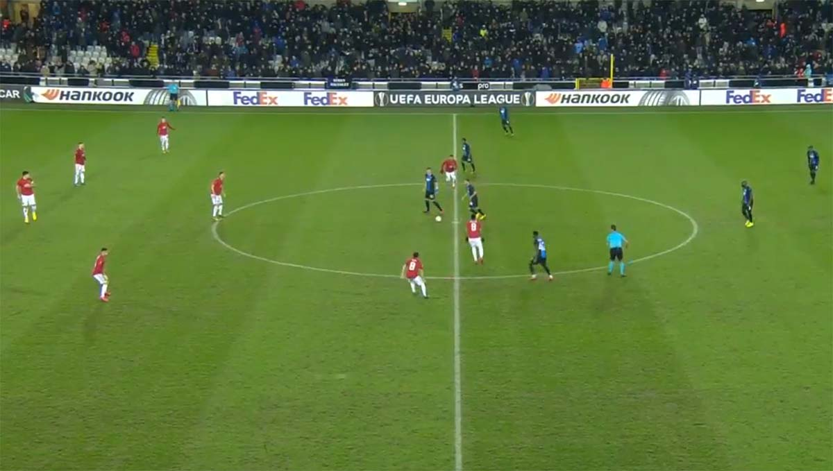 Laga Liga Eropa Club Brugge Vs Manchester United Berakhir