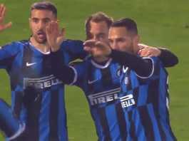 Selebrasi Pemain Inter Milan Usai Christian Eriksen Cetak Gol Ke Gawang Ludogorets