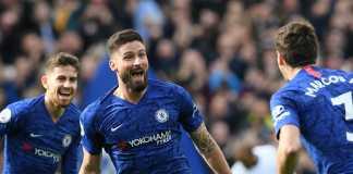 Selebrasi Gol Olivier Giroud di Chelsea Vs Tottenham