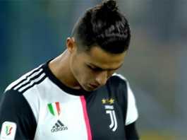 Cristiano Ronaldo di Final Coppa Italila Juventus Vs Napoli