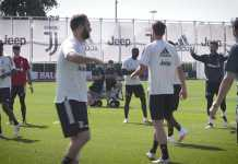 Latihan pemain Juventus