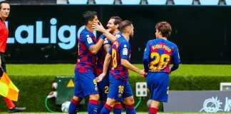 Luiz Suarez dan Lionel Messi di Celta Vigo Vs Barcelona