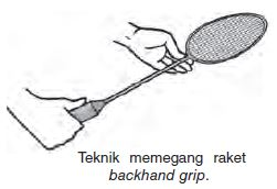Teknik Memegang Raket Backhand Grip