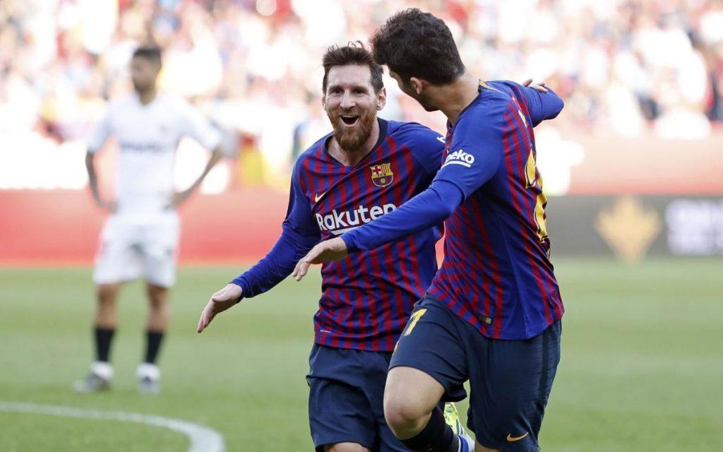 Hattrick Messi bawa Barcelona kalahkan Sevilla