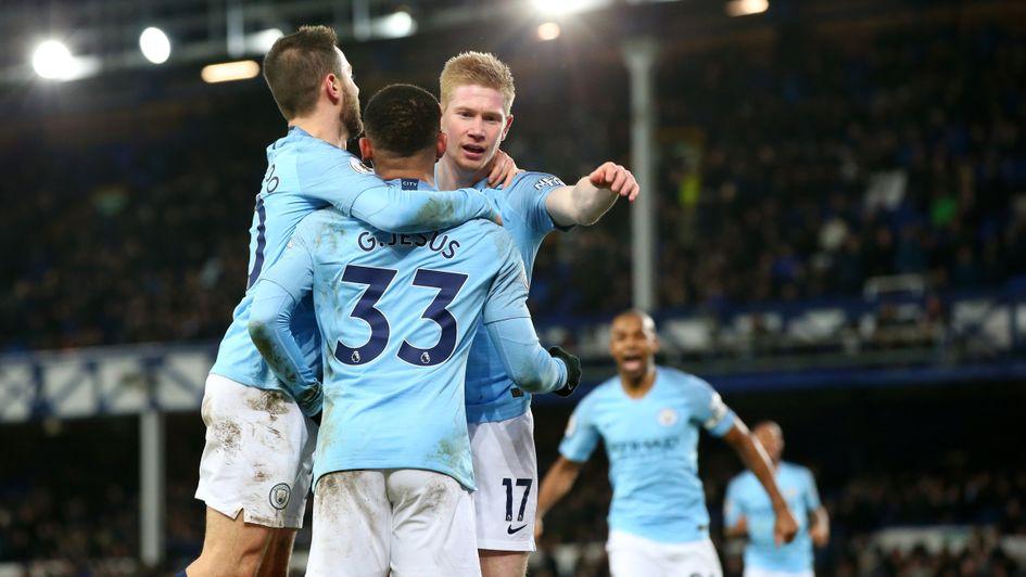Selebrasi Gabriel Jesus saat cetak gol ke gawang Everton (Sporting Life)