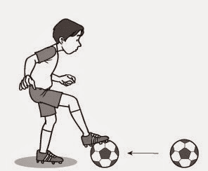 gambar 4 - teknik menahan bola