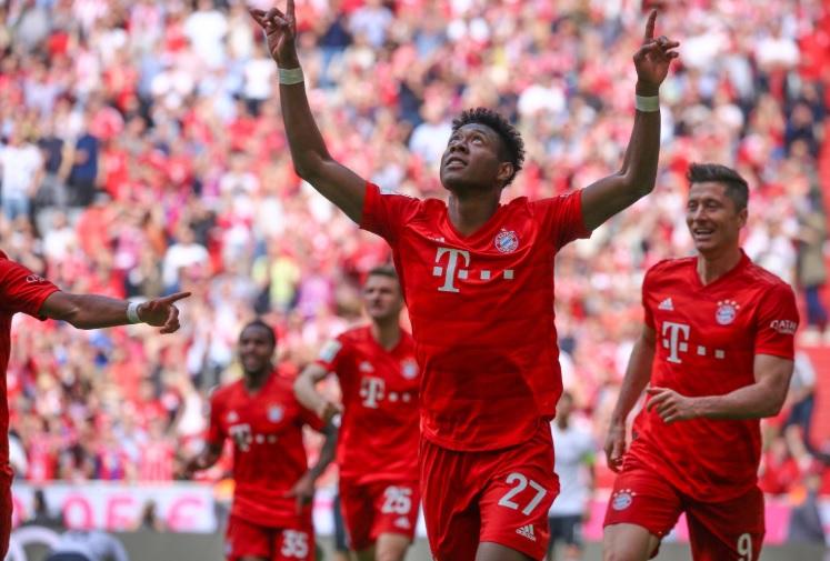 David Alaba cetal gol kedua yang bawa Munchen unggul
