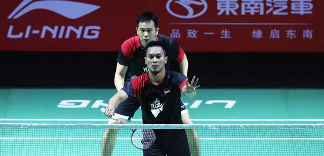 Fuzhou China Open 2019 : Komentar Ahsan/Hendra Setelah Dipaksa Bermain Hingga Skor 30 – 29