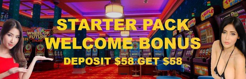 Starter Pack and Welcome Bonus for Online Casino