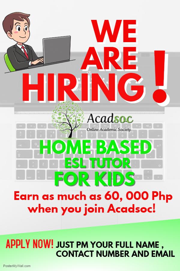 Home-based Esl Tutors from Acadsoc Ltd.