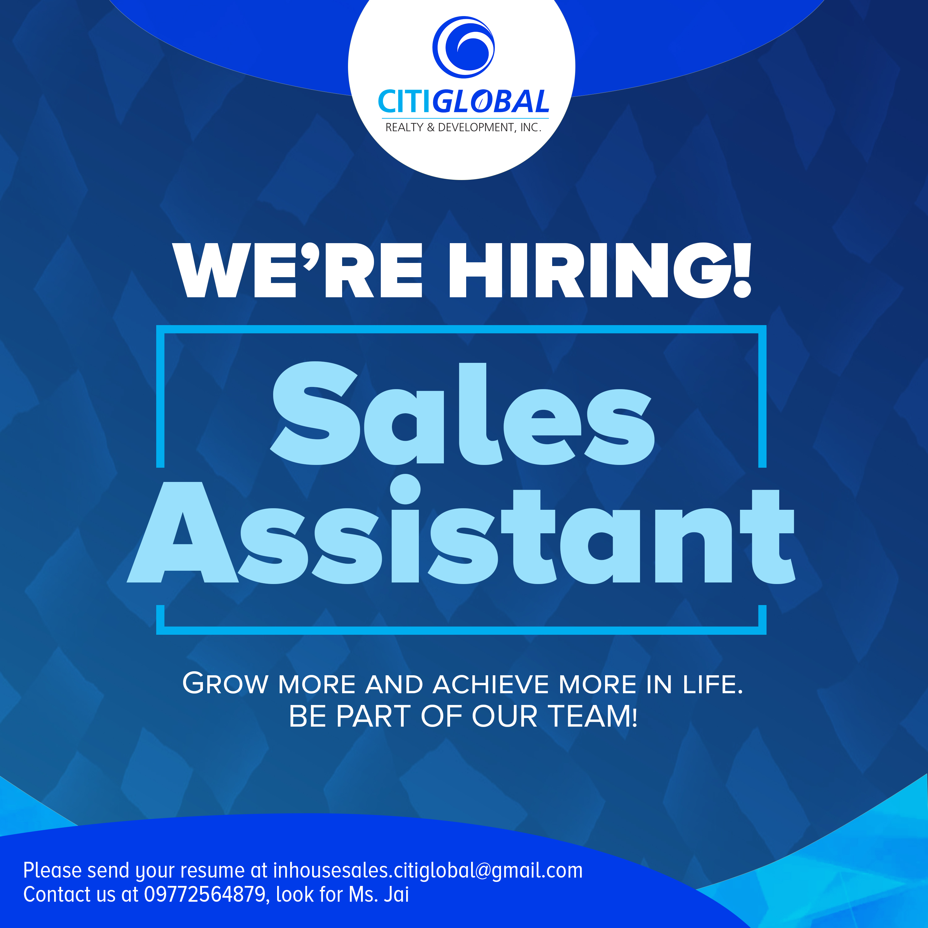 Sales Assistant from Inhouse sales