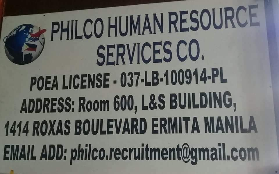 Philco Human Resource Services Co From L S Building Rm 611 6th
